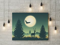 Poster Prints, Art Prints, Printable Wall Art, Your Space, Digital Art, Printables, Colours, Etsy Shop, Night