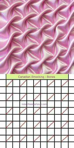 Canadian smocking : easy tutorials, graphs &a Silk Ribbon Embroidery, Embroidery Stitches, Hand Embroidery, Embroidery Designs, Smocking Tutorial, Smocking Patterns, Sewing Patterns, Skirt Patterns, Coat Patterns