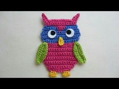 (24) Crochet animal applique - YouTube