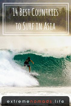 Surfing in Asia - Read all about 14 of the best countries to surf in Asia, from the well-known waves in Bali to the unheard of surf in Thailand, Myanmar, India, and more. Click the link to see the full list of places to surf in Asia: Best Surfing Spots, Surfing Tips, Snowboard, Surfing Destinations, California Surf, Learn To Surf, Surf Trip, Asia Travel, Surf Travel