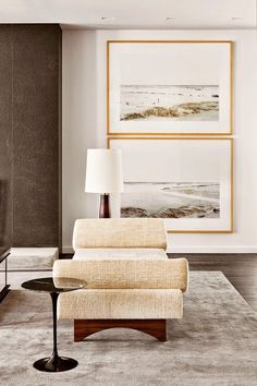 Impact: Above, architect Shamir Shah hung a framed pair of photographs in his New York living room. The set makes more of a statement, and covers more real estate, than one piece of artwork is able to do.  (Image credits: Vogue Australia; Pablo Enriquez; C Magazine via Domaine Home; Julia Brenner; Paul Zansler; Architectural Digest)