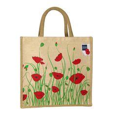 Poppy Shop Field Poppy Meadow Jute & Juco Mix Bag
