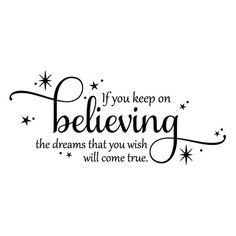 Wall Quote If You Keep On Believing Disney Cinderella Girls | Etsy