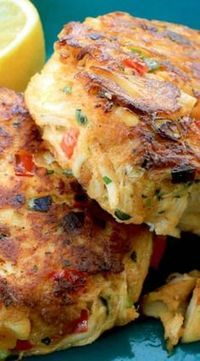 Crab Cakes ~ Says: Our recipe uses a minimal amount of 'binder' so you get the full savory flavor of the crab.Melt-In-Your-Mouth Crab Cakes ~ Says: Our recipe uses a minimal amount of 'binder' so you get the full savory flavor of the crab. Crab Cake Recipes, Fish Recipes, Seafood Recipes, Appetizer Recipes, Cooking Recipes, Healthy Recipes, Crab Cakes Recipe Best, Seafood Appetizers, Snacks