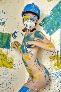 Silvia Nossloo body splash painting by Eric Gibaud on 500px
