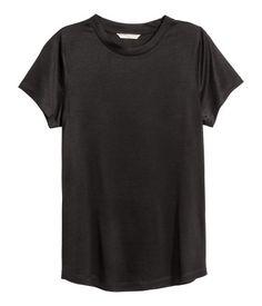 Jerseyshirt | Schwarz | Damen | H&M DE