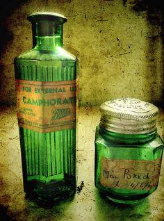 green bottles #vintage #home #decor