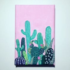 Acrylic cactus painting by Emily Willis                                                                                                                                                                                 More