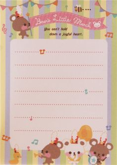 "Q-lia Bear's Little March memo / ""you can't hold down a joyful heart"" ♥"