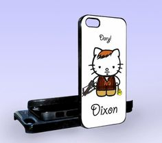 Hello Kitty Daryl DIxon - Print on Hard Cover - iPhone 5 Case - iPhone 4/4s Case - Samsung Galaxy S3 case - Samsung Galaxy S4 case