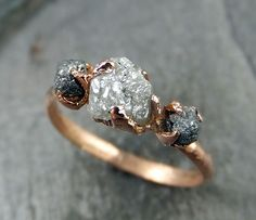 Raw Diamond Engagement Ring Rough