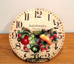 Dorothy Wisenhunt design painted my Chickie Zinnanti Rosemary West, Silent Auction, Pattern Design, Clock, Painting, Home Decor, Watch, Decoration Home, Room Decor