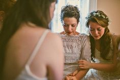 Emotional pre-wedding moment with the bridesmaids | Photo by Danielle Real Photography