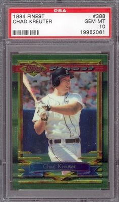 1994 Topps Finest #388 Chad Kreuter Tigers PSA 10 pop 1 by Topps. $6.00. 1994 Topps Finest #388 Chad Kreuter Tigers PSA 10 pop 1. If multiple items appear in the image, the item you are purchasing is the one described in the title.