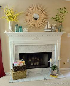 january mantel | year of seasonal mantels in 2012