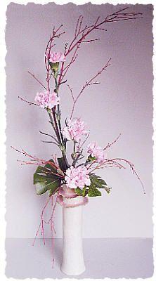 Pale Pink Ikebana Style Flower Arrangement - Dot Com Women