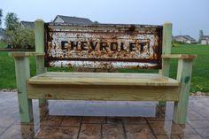 Chevrolet Stepside Tailgate bench by TailgateGuy on Etsy