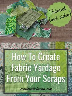 DIY tutorial on how to create fabric yardage out of scrap fabric pieces. DIY tutorial on how to create fabric yardage out of scrap fabric pieces. Upcycle T Shirts, Hot Pads, Sewing Hacks, Sewing Tutorials, Sewing Tips, Sewing Ideas, Sewing Crafts, Sewing Basics, Scrap Quilt