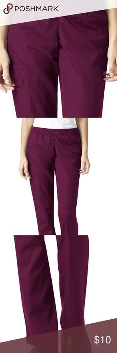 Petite small/ wine colored scrubs Elastic waist, great condition! Super comfortable. Small flare Sanibel Pants
