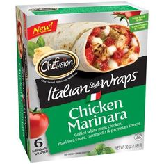 Chefusion Chicken Marinara Italian Style Wraps, 6 count, 30 oz