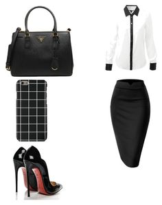 """Untitled #9"" by ana-ioan on Polyvore featuring Christian Louboutin and Prada"