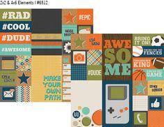 So Rad 12x12 Paper - 2x2 & 4x6 Elements