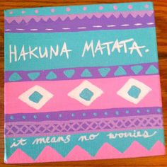 Canvas Painting  Hakuna Matata Quote by kalligraphy on Etsy, $18.00
