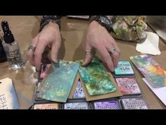 Creativation 2017 Tim Holtz Distress® Oxides Demo - YouTube