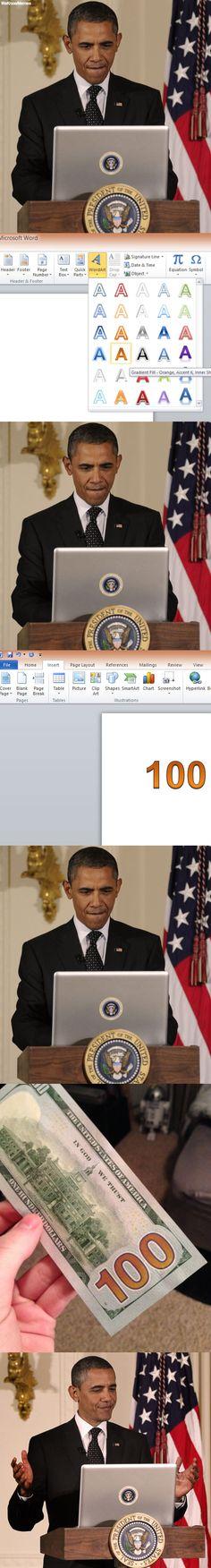 obama designing the new 100 dollar bill