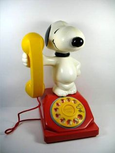 Snoopy rotary phone