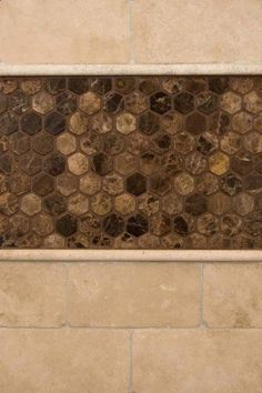 Durango Travertine And Emperador Dark Marble 2