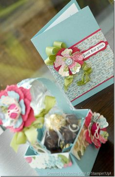 cute greeting card with matching box for gift