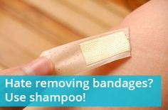 Use Shampoo to Remove Band-Aids Painlessly!