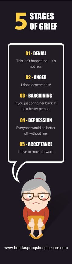 5 Stages of Grief. Call 408-848-1114 now. #BonitaSprings #HospiceCare #Hospice