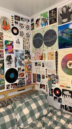 Indie Bedroom, Indie Room Decor, Cute Room Decor, Blue Bedroom, Room Design Bedroom, Room Ideas Bedroom, Bedroom Inspo, Room Ideias, Chambre Indie