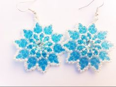 "DIY tutorial orecchini con superduo e swarovski - ""Orecchini Jeanne "" - earrings superduos - YouTube"