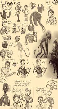 Bendy Doodles 6 by JARGURL