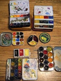 Watercolors: sets galore