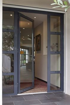 New Modern Glass Front Door Entrance House Ideas Front Door Entrance, Door Entryway, House Front Door, Glass Front Door, House Doors, House Entrance, Glass Entry Doors, Modern Entrance Door, Glass Porch