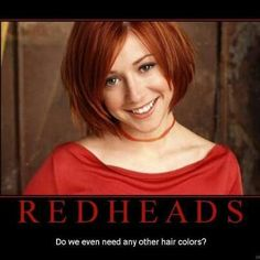 For all the reds. Or strawberry blondes in my case. #lovre#your#hair.