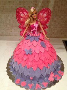 fairy butterfly Barbie cake