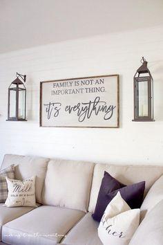 99 DIY Farmhouse Living Room Wall Decor And Design Ideas (22)