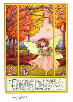 Autumn Fairy  (I would love to see a larger version of this beautiful illustration!)