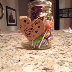 This is a fun and easy way to store your leftover candy!