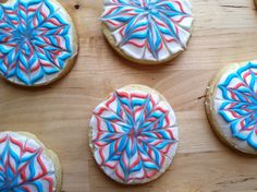 4th of July Firework Cookies...yum (recipe included)