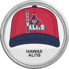 Hawaii Ali'is hat - baseball cap - sports logo - uniform - Hawaii Collegiate Baseball League - Minor League Baseball - MiLB - Created by John Majka Minor League Baseball, Pacific Coast, Sports Logo, Juventus Logo, Art Logo, Caps Hats, Golf Clubs, Jackson, Baseball Hats