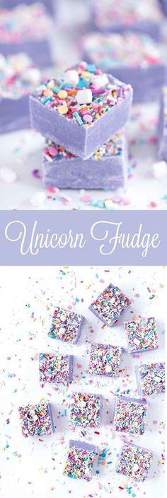 Fudge Unicorn Fudge by Sprinkles for Breakfast! Ah! Cute and delicious!Unicorn Fudge by Sprinkles for Breakfast! Ah! Cute and delicious! Fudge Recipes, Candy Recipes, Sweet Recipes, Cheesecake Recipes, Köstliche Desserts, Dessert Recipes, Purple Desserts, Rainbow Desserts, Unique Desserts