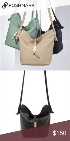 VINCE CAMUTO BLACK BUCKET BAG Brand New with tags. Never used. No damage. Comes with dust bag and authenticity card. More photos coming soon. Vince Camuto Bags Crossbody Bags