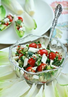 Tabouli with Feta and Endive Recipe | ASpicyPerspective.com
