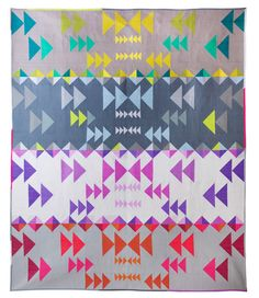 Flight Path designed by Alison Glass Designs. Features #KonaCotton. #rkjuly15